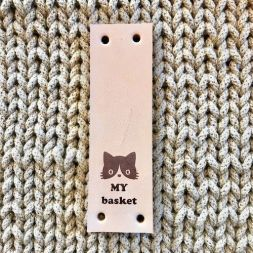 Bobbiny Leren Label My Basket