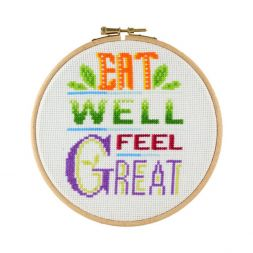 Borduurpakket Eat well, feel great