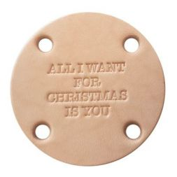 Leren label All I Want For Christmas Is You