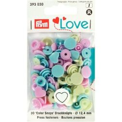 Prym Love Color drukknoop Hart 12,4mm 393030