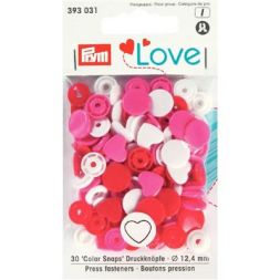 Prym Love Color drukknoop Hart 12,4 393031