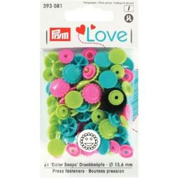 Prym Love Color drukknoop Bloem 13,6 393081