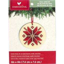 KIT NORDIC SNOWFLAKE WOOD Ornament