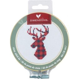Borduurkit Plaid deer in borduurring PN-0187011